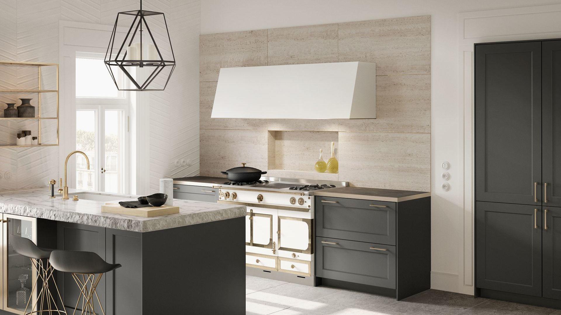 Le bois, l'allié du marbre dans la cuisine