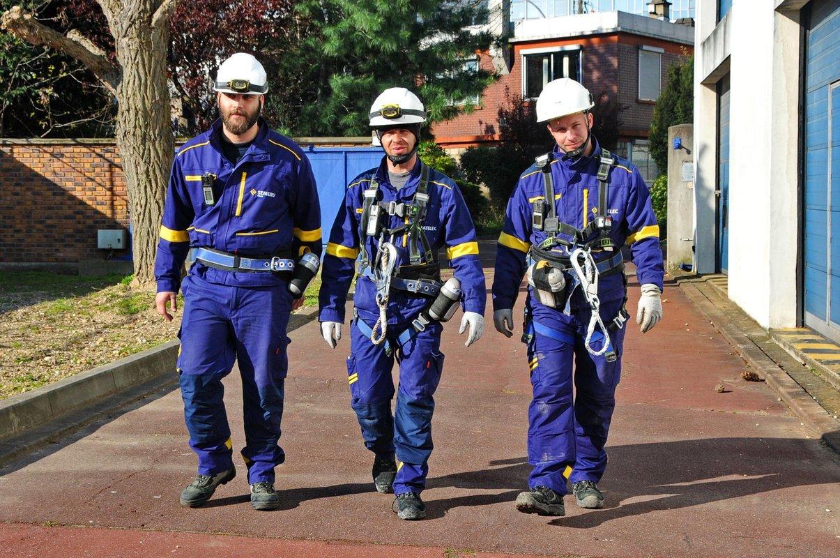 Les ouvriers de Fayat Energies Services